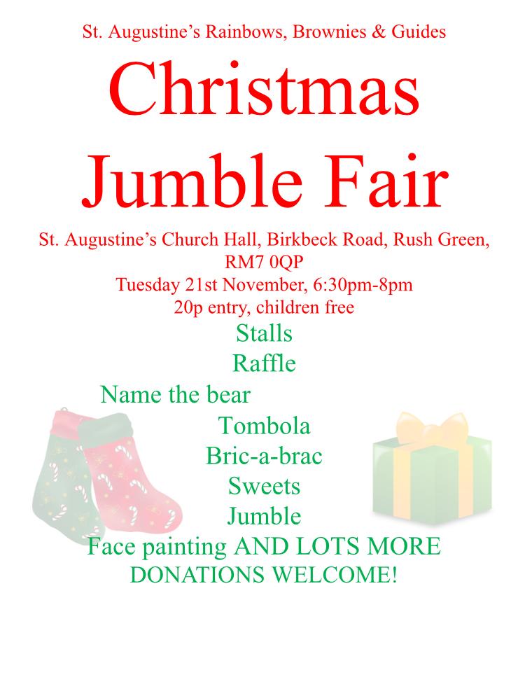 Rainbows, Brownies & Guides Christmas Fair @ St Augustine Church Hall | England | United Kingdom